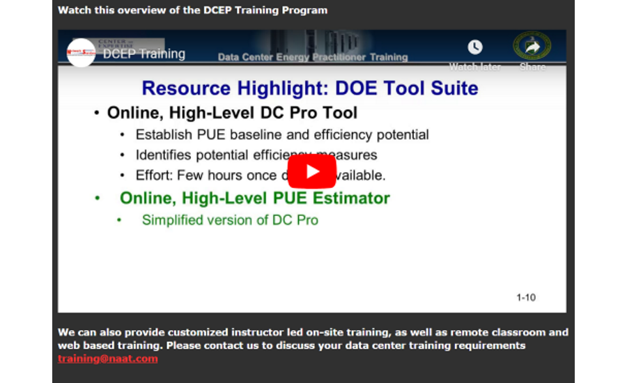 DCEP Training Screenshot