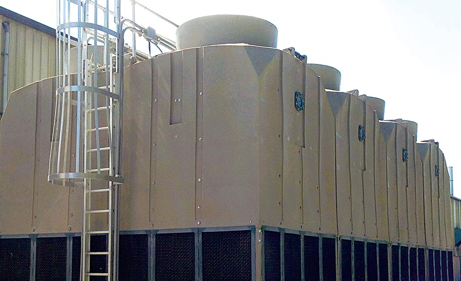 This new HDPE cooling tower at Strand-Tech Martin