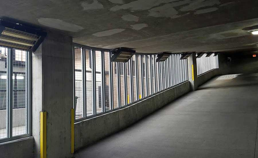 Parking garage goes infrared to melt away snow and salt issues