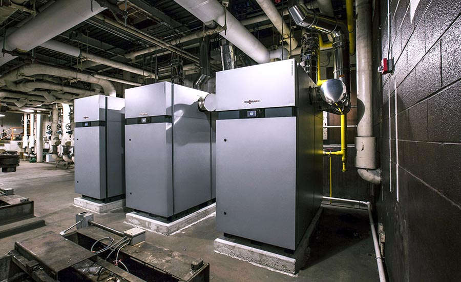 A Rhode Island school district installed three energy-efficient boilers that required no primary or secondary loops