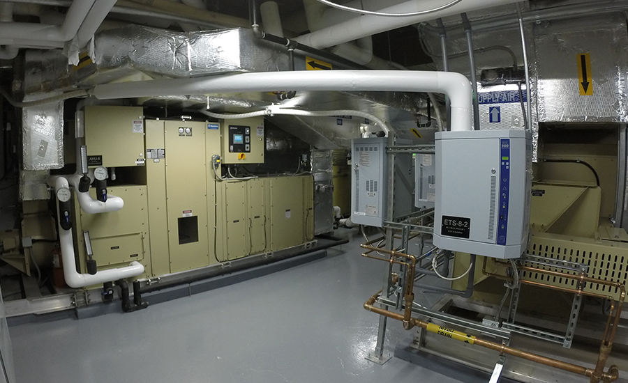 The new design replaced existing AHUs with new dehumidification units