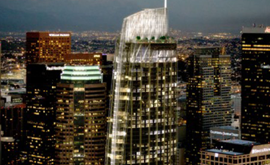 The 73-floor Wilshire Grand in Los Angeles