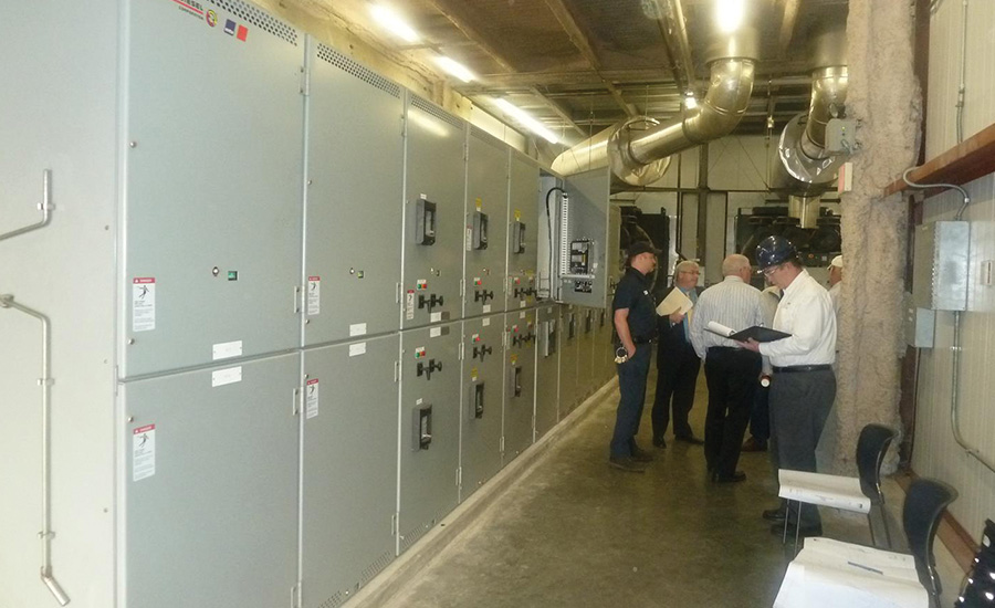 A photo of the existing switchgear