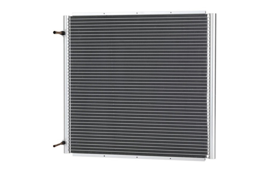 A microchannel heat exchanger