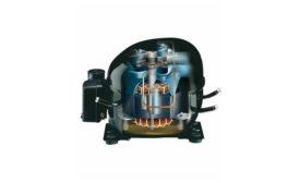 The interior of a reciprocating compressor