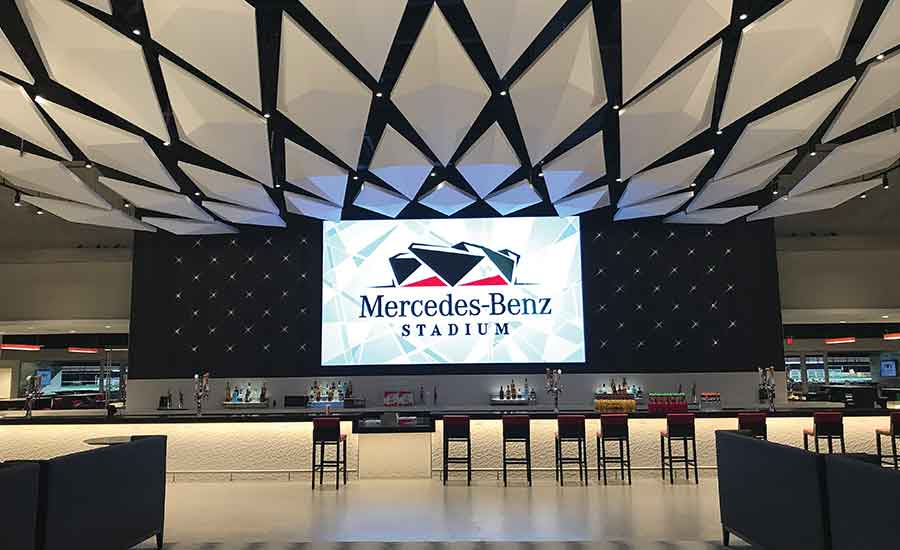 The Mercedes-Benz Stadium venue features