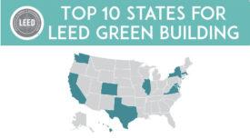 Top 10 States 2018 LEED