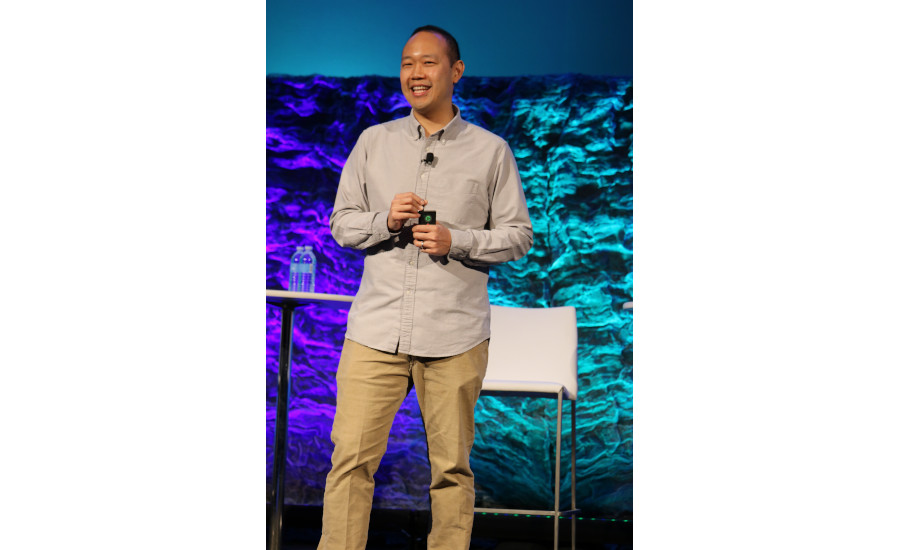 Keynote speaker Chieh Huang, CEO of Boxed