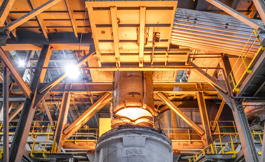 Arkansas steel mill prevents rust with HTHV technology