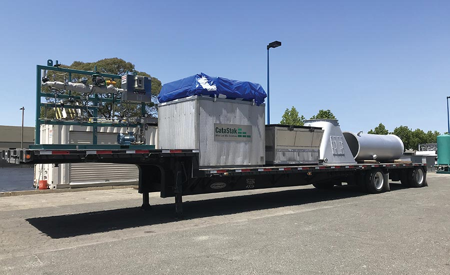 A flatbed shipment with all the temporary SCR system