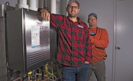 Joel Iverson, co-founder, Monday Night Brewing (left) and David Hardegree, owner/operator, Hard-Cas Mechanical & Home Services