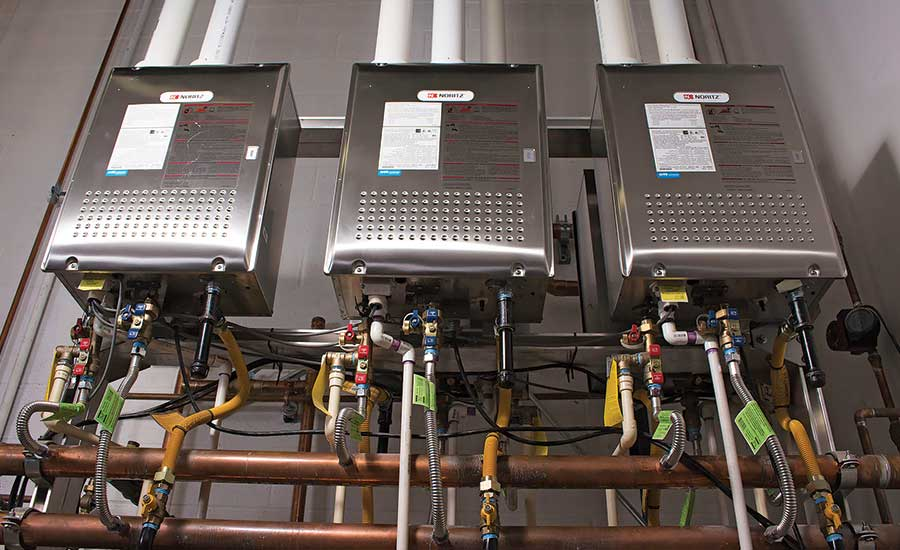 five tankless water heaters