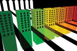 colored buildings, 3D buildings