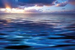 Horizon, ocean, sunset