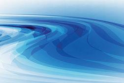 blue design, blue waves