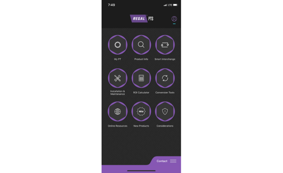 Power Transmission Mobile App – Regal