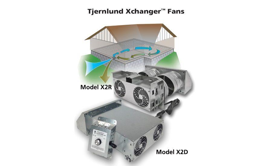 2-Speed Reversible Basement Speciality Fan X2R Tjernlund Xchanger 12 in