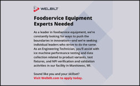 FOODSERVICE EQUIPMENT EXPERTS NEEDED